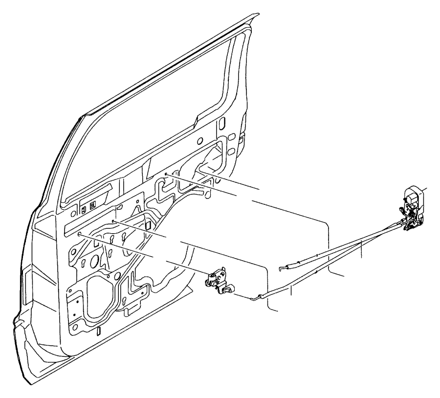 Dodge Durango Used for: LINK AND SLEEVE. Rear Door Inside