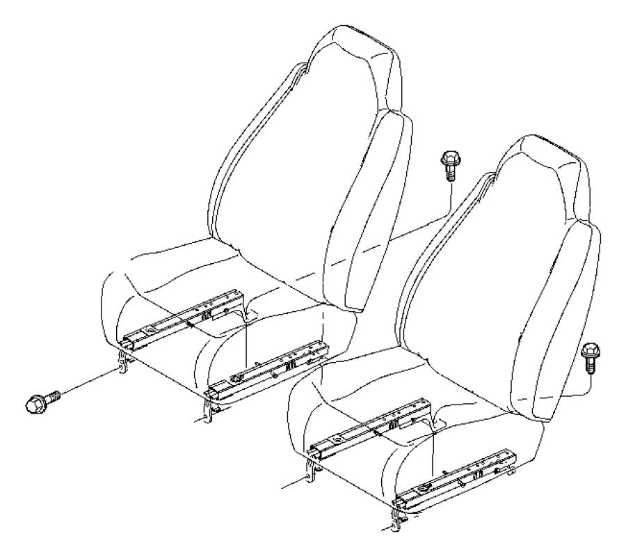 Dodge Durango Adjuster. Manual seat. Bucket seat. Trim
