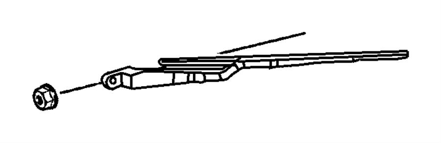 Chrysler Pt Cruiser Arm. Liftgate wiper, rear wiper. After