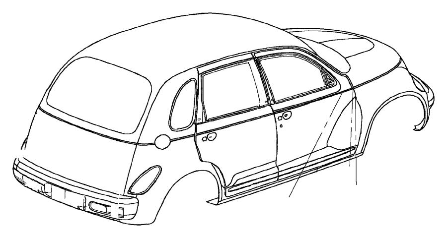 Chrysler Pt Cruiser Nameplate. Liftgate. Lower right
