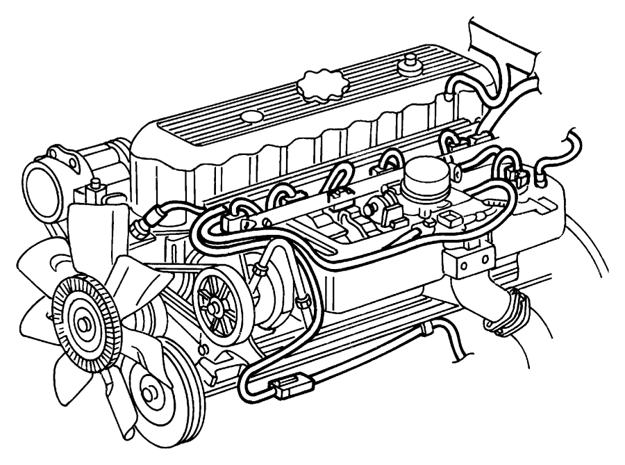 Jeep Liberty Wiring. Engine. 8/05/02 & after, up to 8/05
