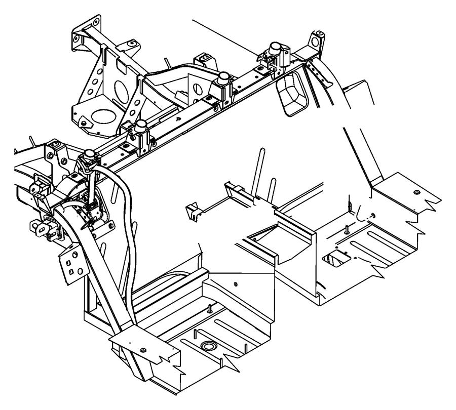 Dodge Viper Spacer. Battery strap, child seat teather