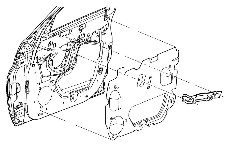 Chrysler Pt Cruiser Panel. Door trim front. Right. [dv
