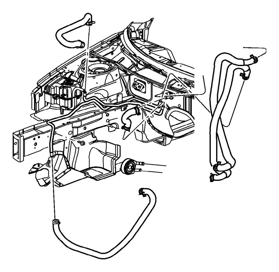 2002 Chrysler Sebring Tube. Heater core. Includes both