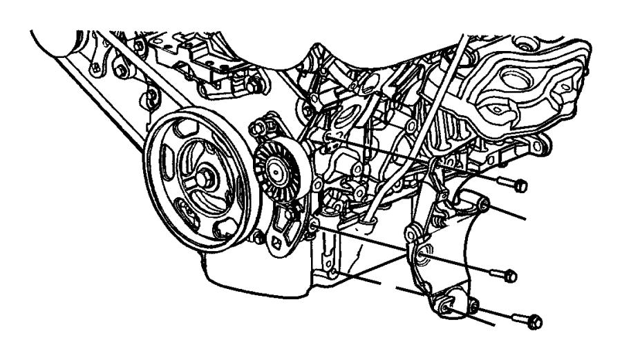 Chrysler Sebring Bracket. Used for: alternator and