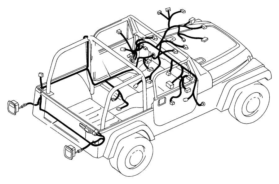Jeep Wrangler Wiring. Body. [rhd rural letter carrier