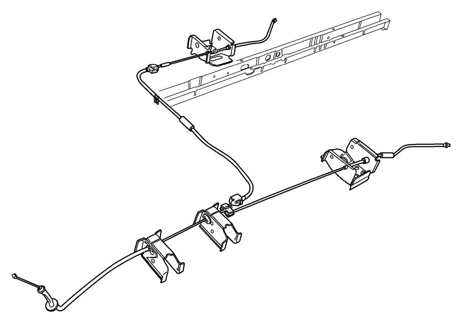 Dodge Grand Caravan Bracket Parking Brake Cable