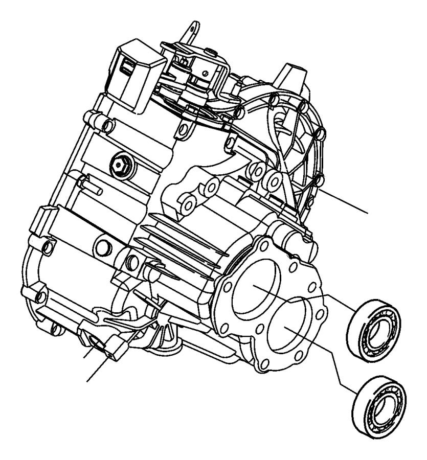 Chrysler Pt Cruiser Bearing. Ball. Input shaft rear