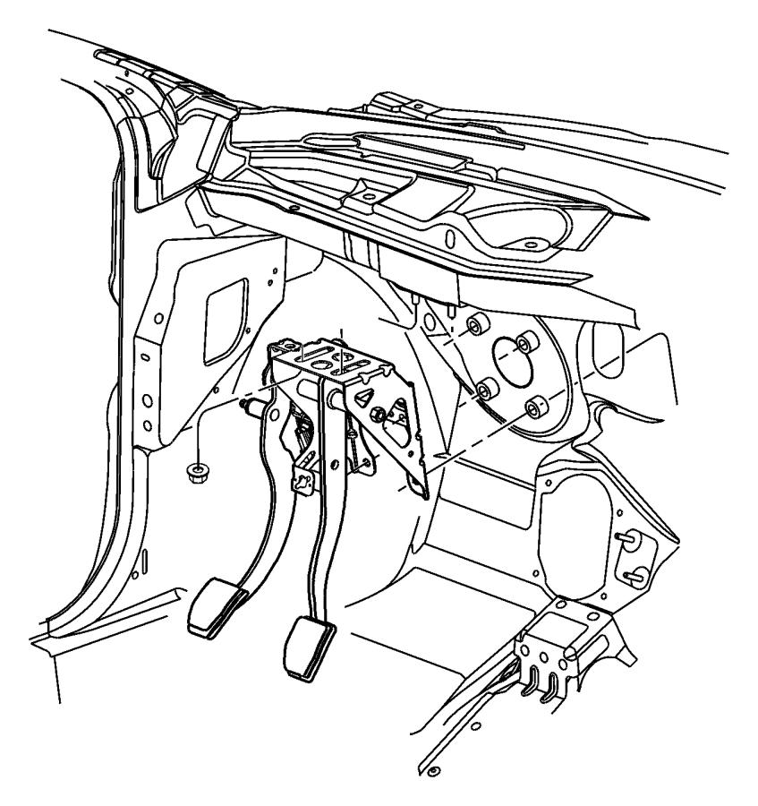 Chrysler Pt Cruiser Bracket. Brake pedal. Automatic