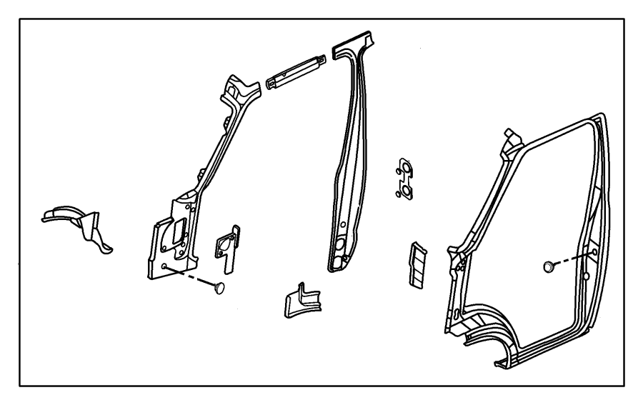 Chrysler Concorde Plug. Floor pan. Rubber, rubber grommet