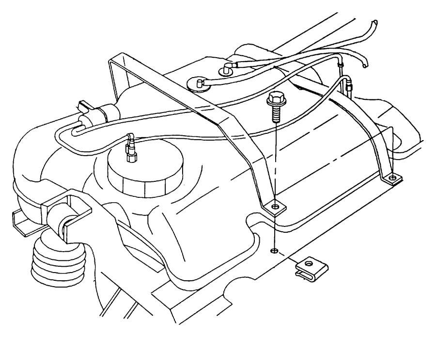 Plymouth Prowler Crossmember. Fuel tank. Rear. [#2], rear