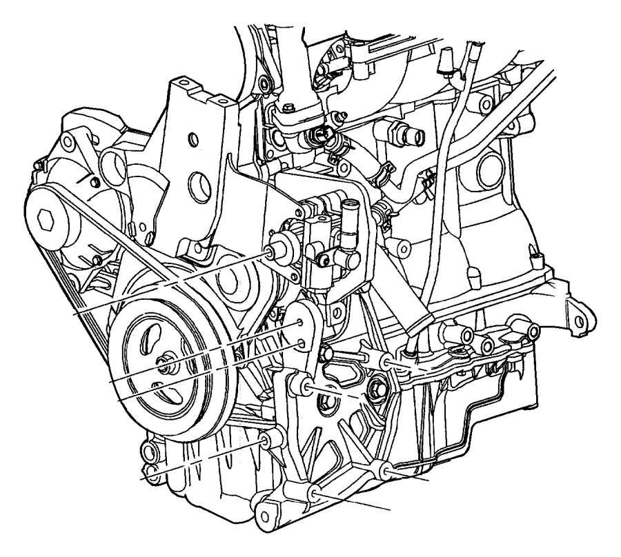 Chrysler Pt Cruiser Bracket. Torque reaction. Manual