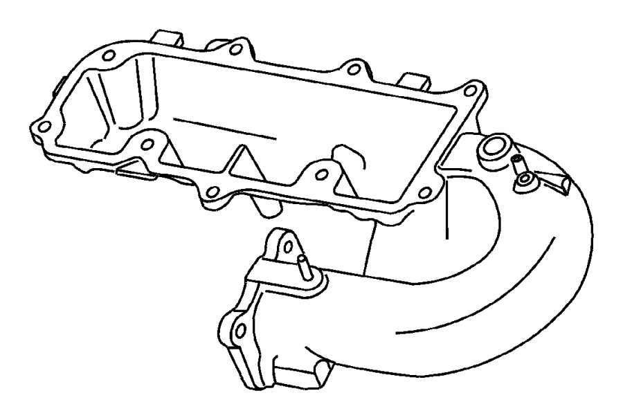 Dodge Stratus Connector. Brake booster vacuum. On manifold