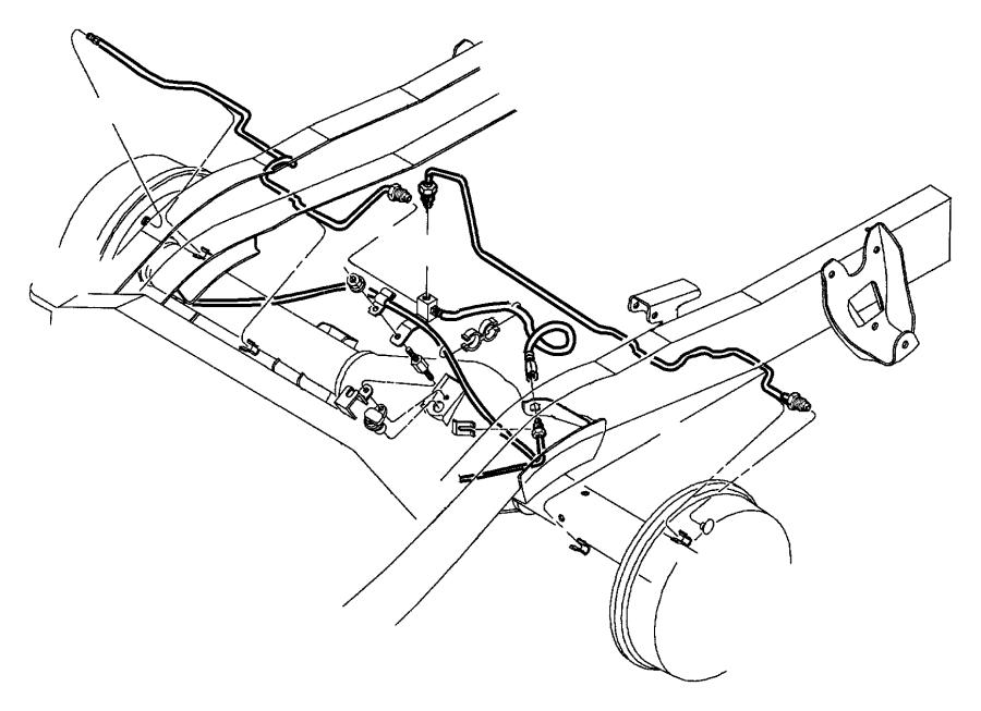 1999 Dodge Tube. Brake. Left. [[corporate 8.25 rear axle