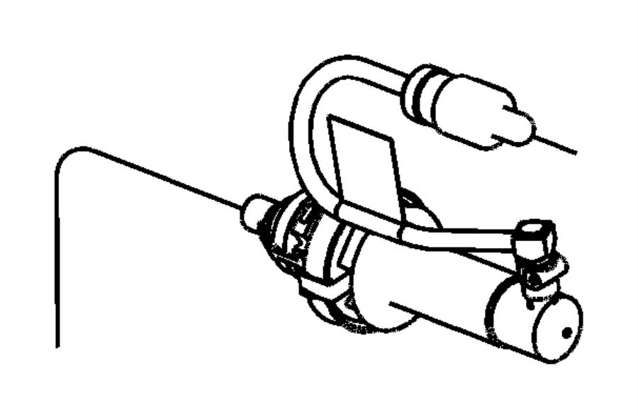 Chrysler Sebring Actuator. Hydraulic clutch. Slave
