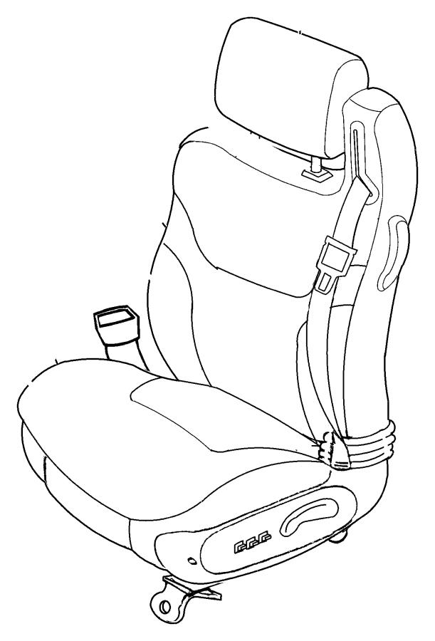 Chrysler Sebring Cover. Front seat back. Driver. [l2], [p2