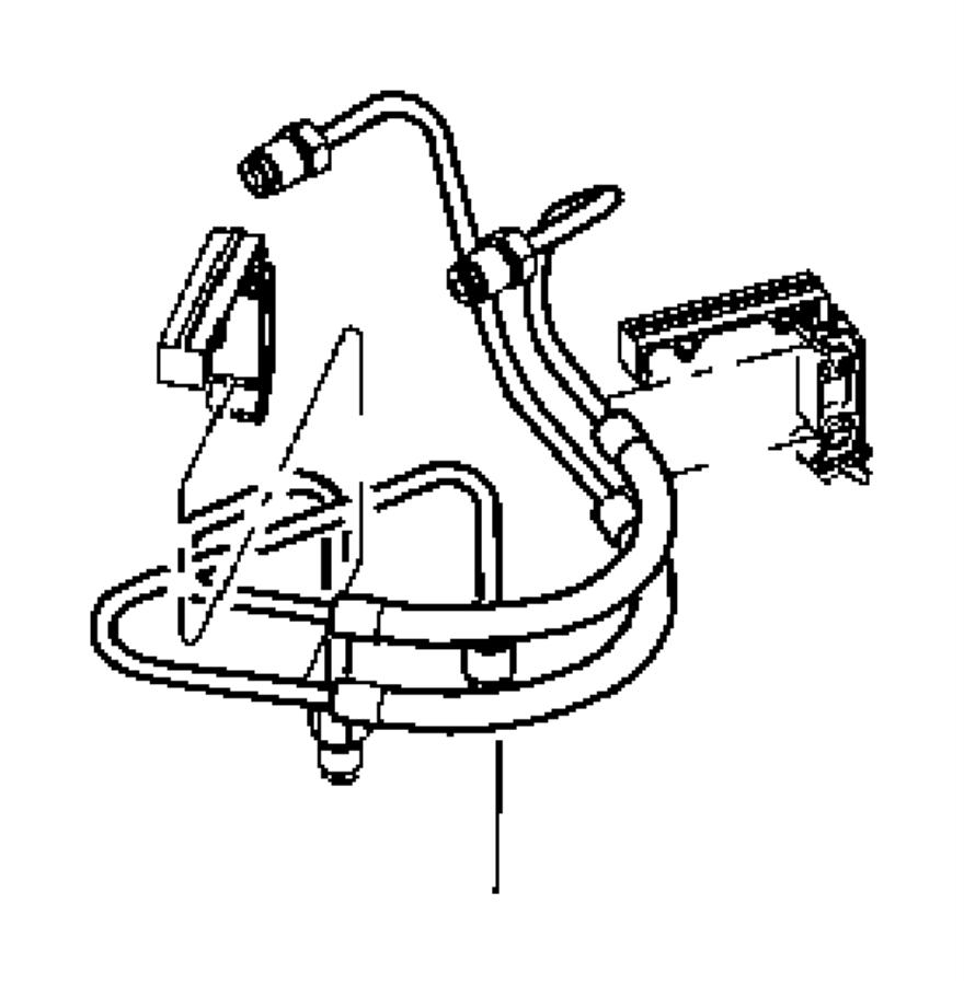 Chrysler Pacifica Tube. Brake master cylinder. Primary