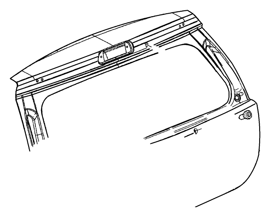 Chrysler Pt Cruiser Cap. Rear wiper arm, wiper arm nut