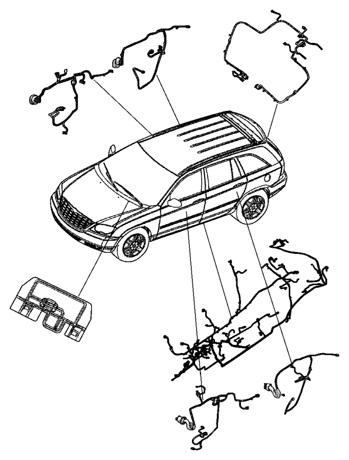 Chrysler Pacifica Wiring. Liftgate. Up to 03/03/03