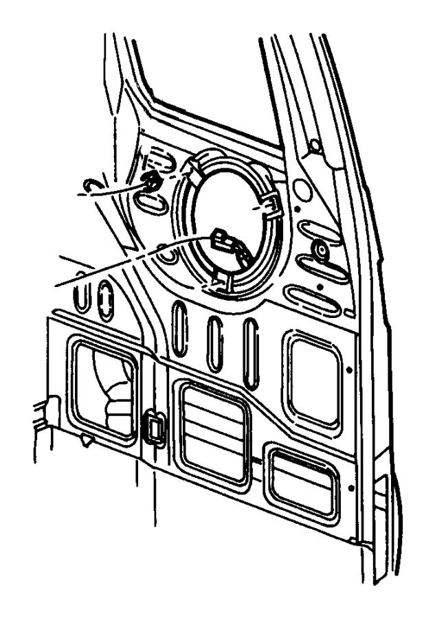 2008 Dodge Ram 5500 Clip. Speaker. B pillar, speaker to