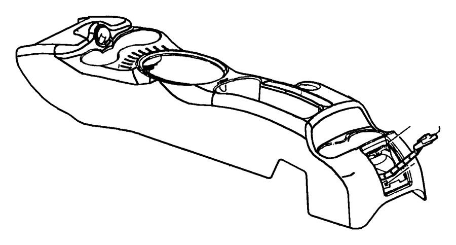 Chrysler Pt Cruiser Console. Floor. [dv], with order code