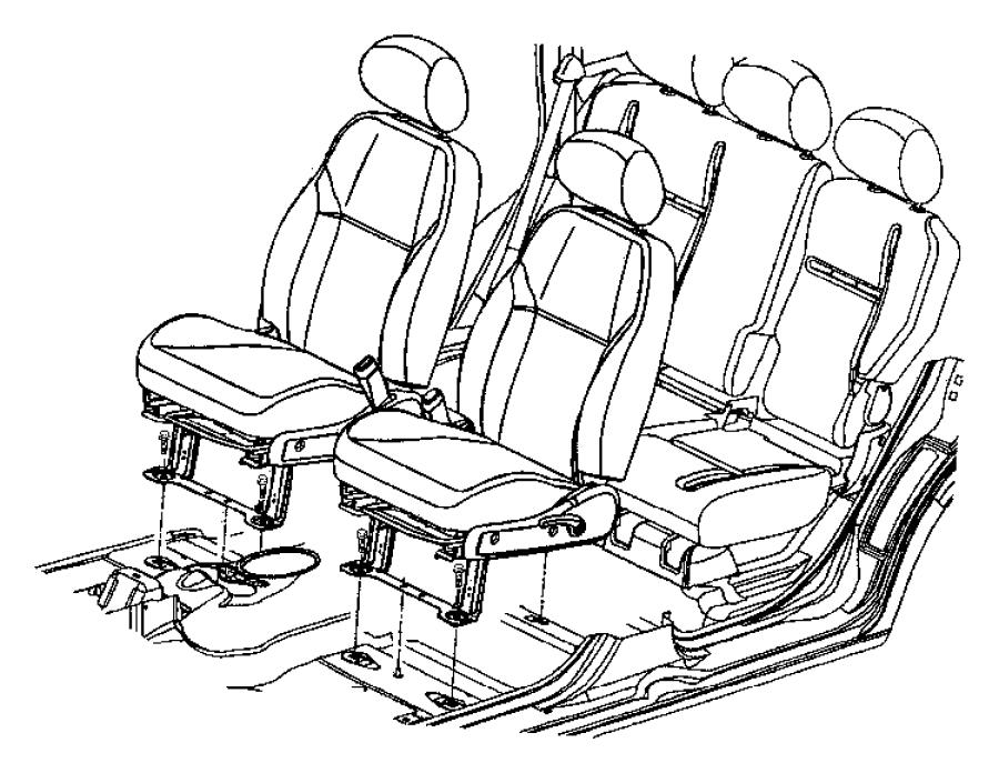 Chrysler Pt Cruiser Adjuster. Manual seat. Driver, left