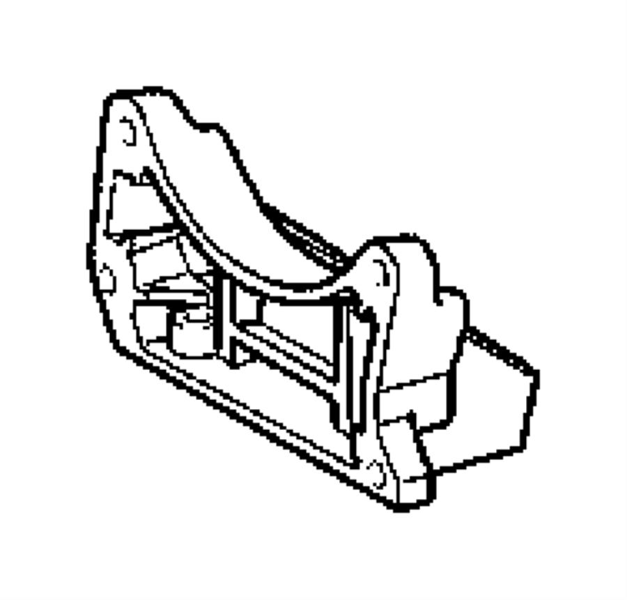 Chrysler Crossfire Bracket. Transmission to transmission