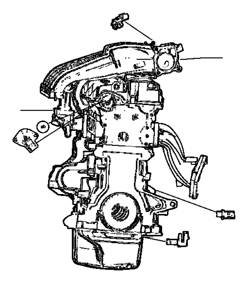 Chrysler Pt Cruiser Sensor. Crankshaft position. After 06