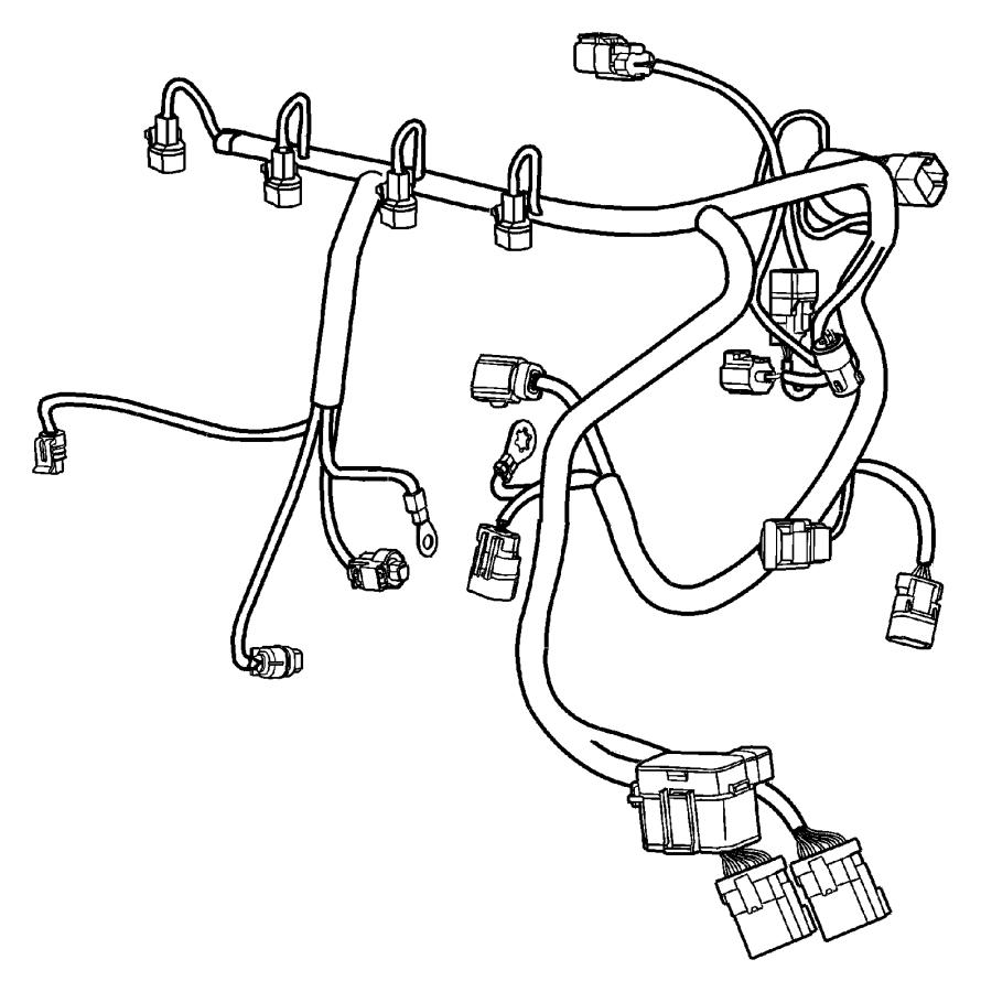 2004 Dodge Neon SXT 2.0L 4 Cyl A/T Wiring. Engine