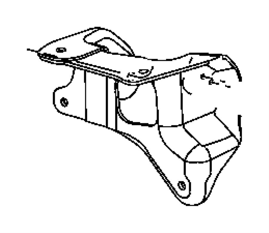 Dodge Durango Bracket. Engine mount. Left. Mount to rail