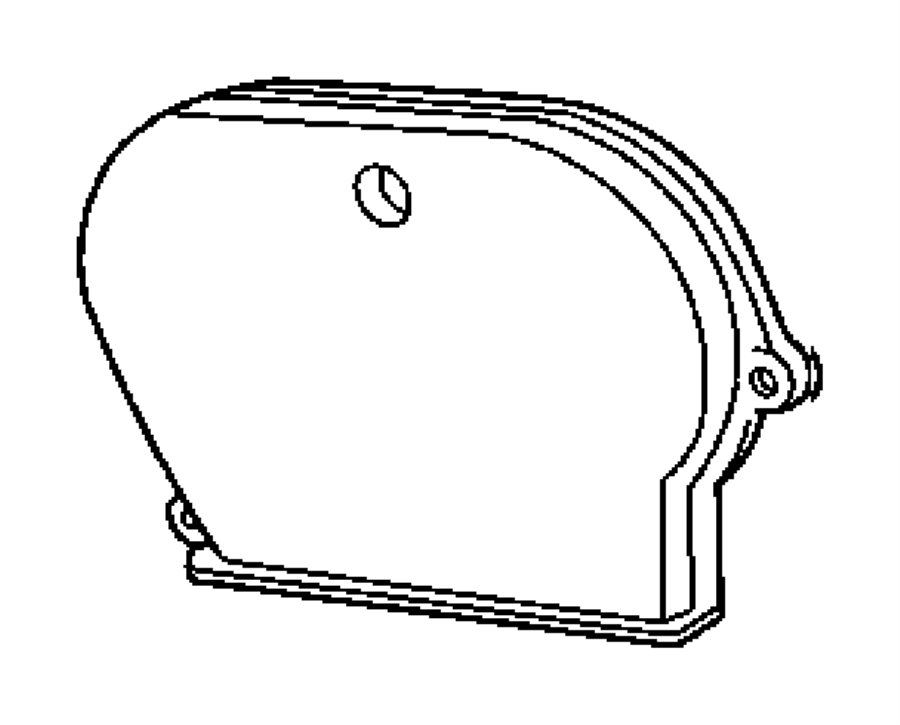 Dodge Neon Cover. Timing belt. Lower, outer, outer lower