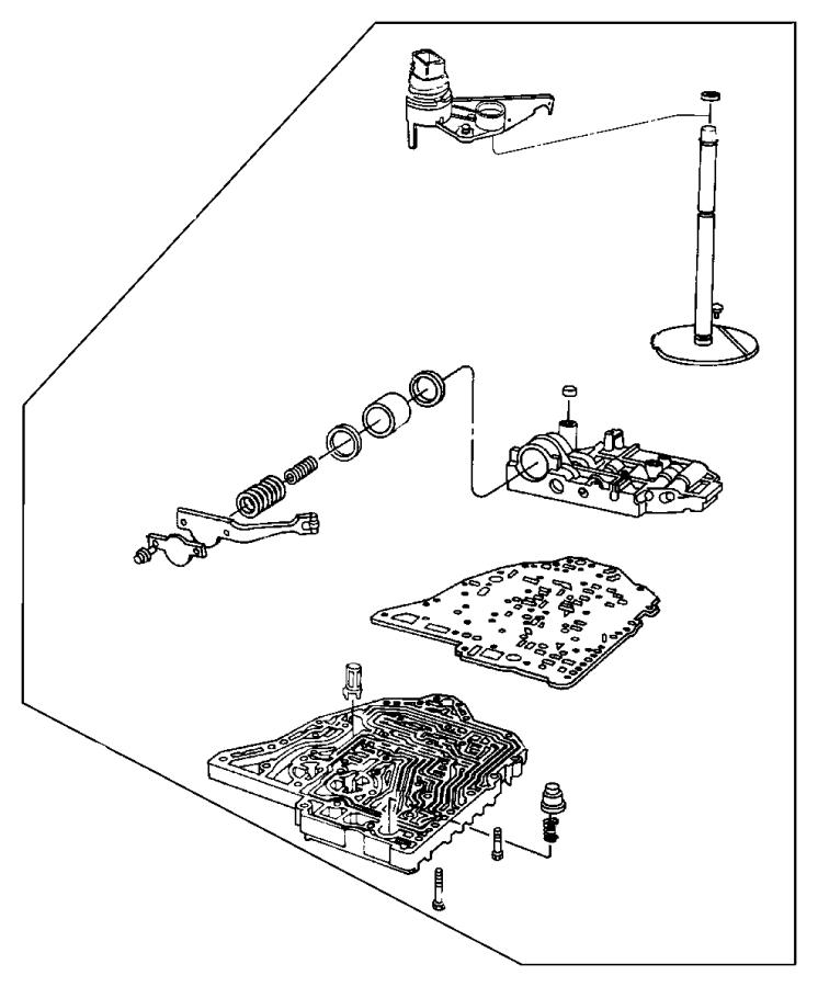 Dodge Avenger Lever. Manual valve. [super track pak