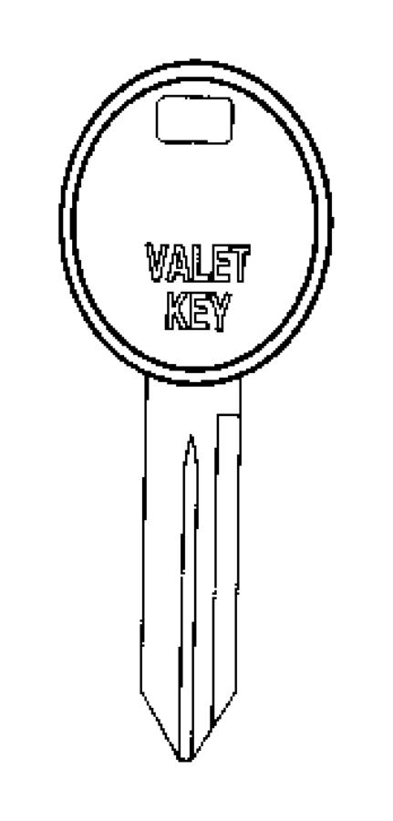 2009 Dodge Key. Blank. Entryblackbluem, lockslockable