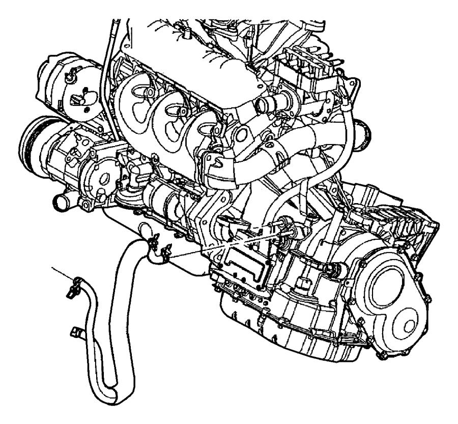 Dodge Dakota Connector kit. Transmission oil cooler line