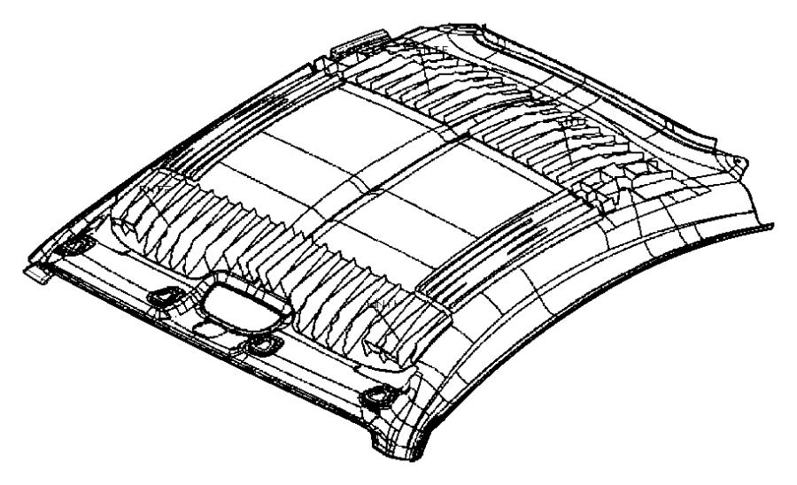 2005 Chrysler Crossfire Headliner. [dd], export, [dd