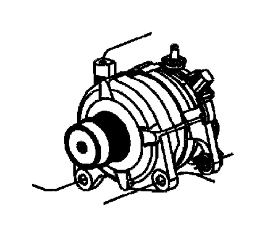 2005 Chrysler Generator. Remanufactured. Engine