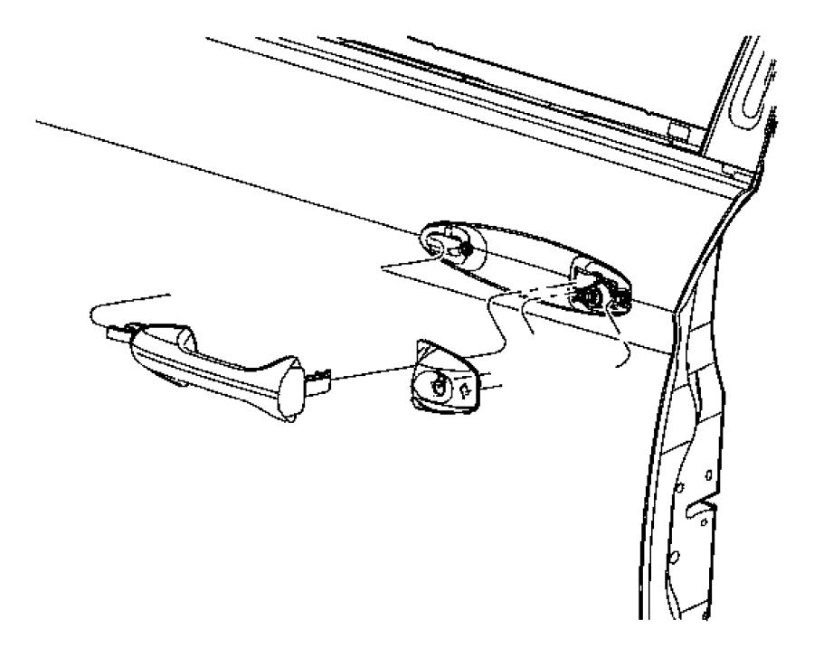 Chrysler Pacifica Bezel. Outside door handle. Left. [p4