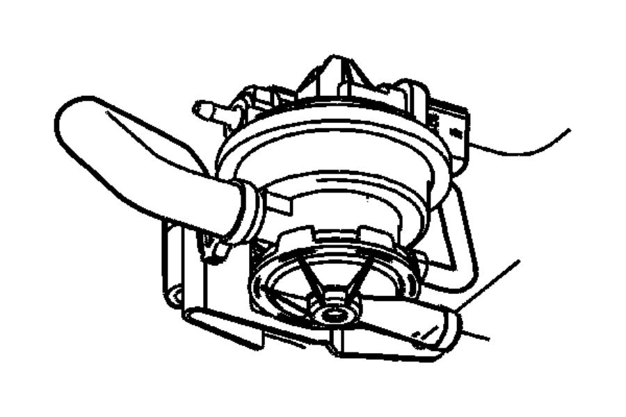Dodge Ram 1500 Hose. Leak detection pump to canister