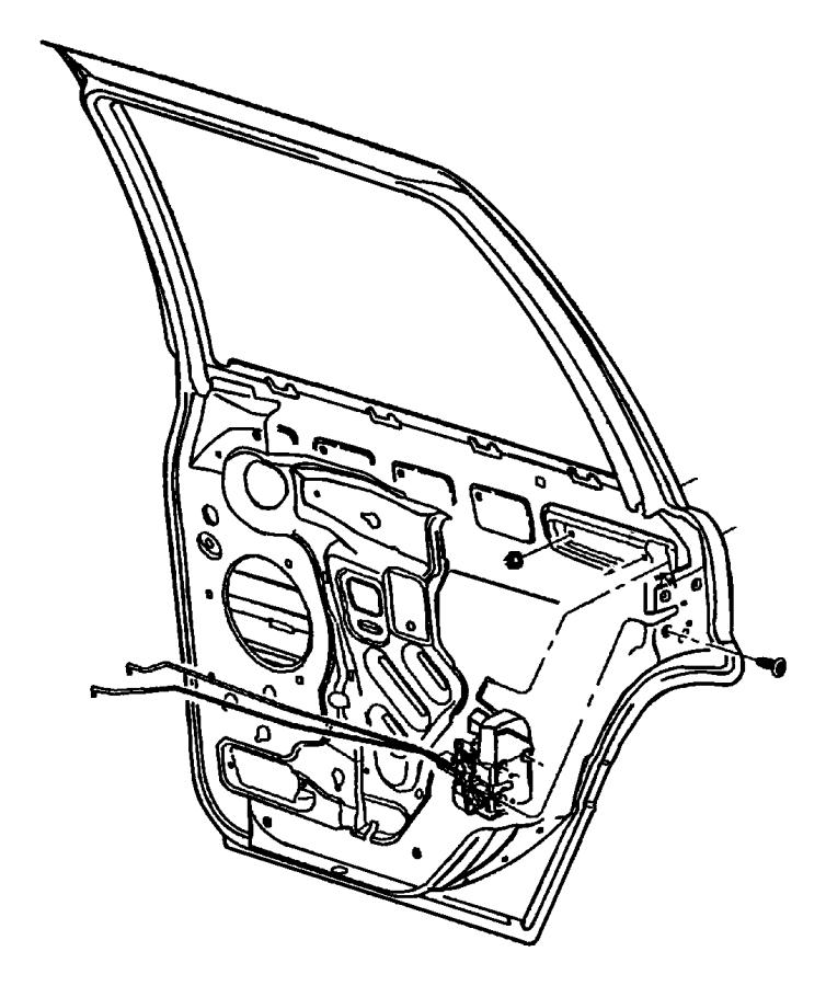 Jeep Grand Cherokee Latch. Rear door. Left, right. [power