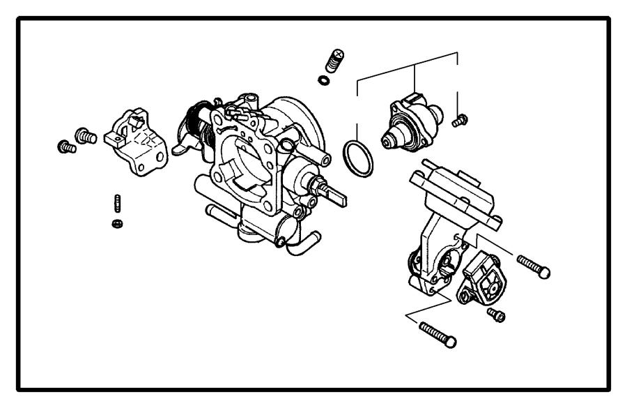 2005 Dodge Stratus Throttle Body 2.4L MMC I-4.