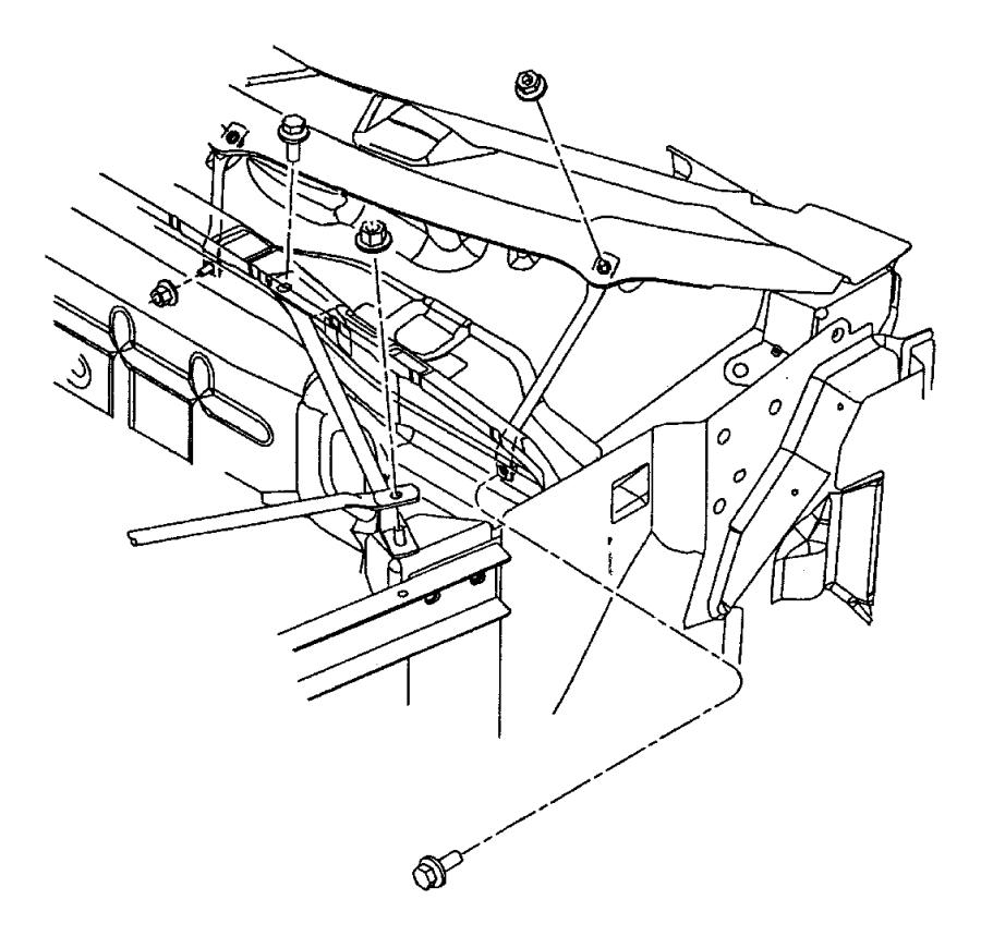Plymouth Prowler Strut. Dash to body hinge pillar. Right