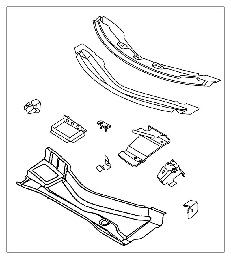 Plymouth Prowler Reinforcement. Cowl plenum. Lower wiper