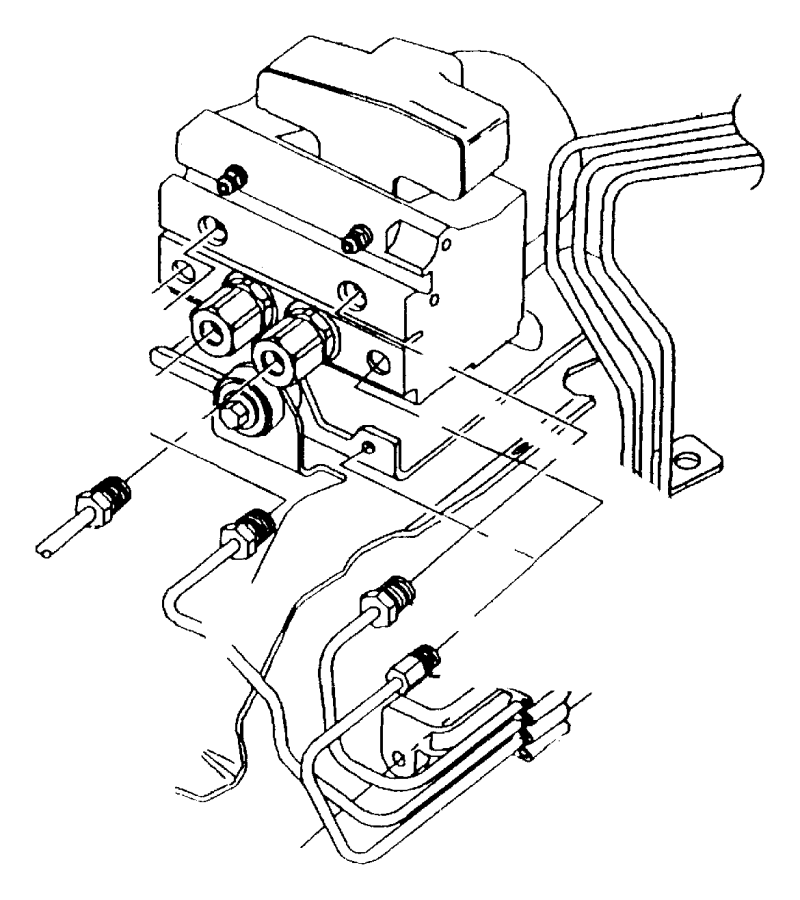 Dodge Ram 1500 Hydraulic control unit. Anti-lock brake