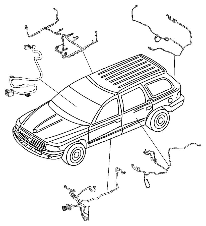 Dodge Durango Wiring. Body. [[memory-radio/drvr seat