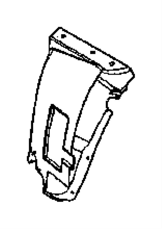 2001 Chrysler Sebring Shield. Fender. Left, left front
