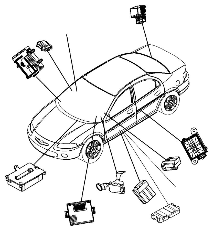 Dodge Stratus Relay. Convertible top. Control module