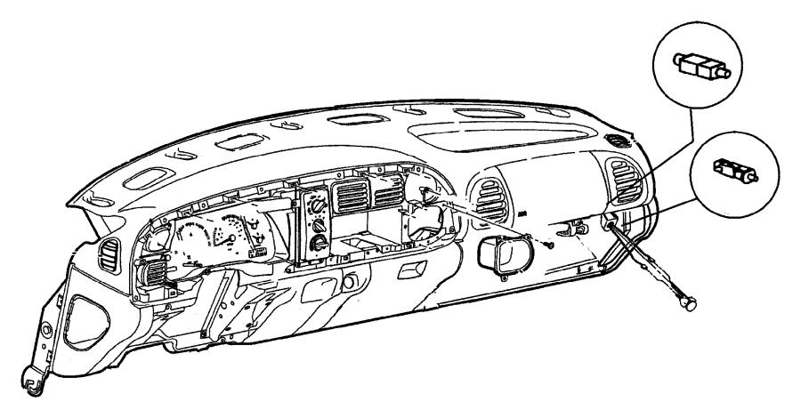 2001 Dodge Ram 2500 Instrument panel kit, panel. Trim