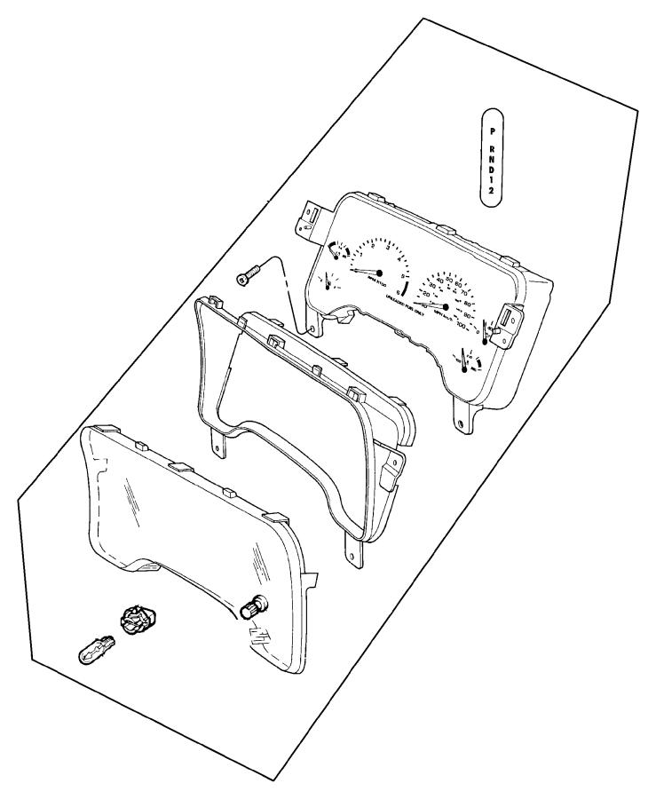 1998 Dodge Dakota Indicator. Gear selector, prndl