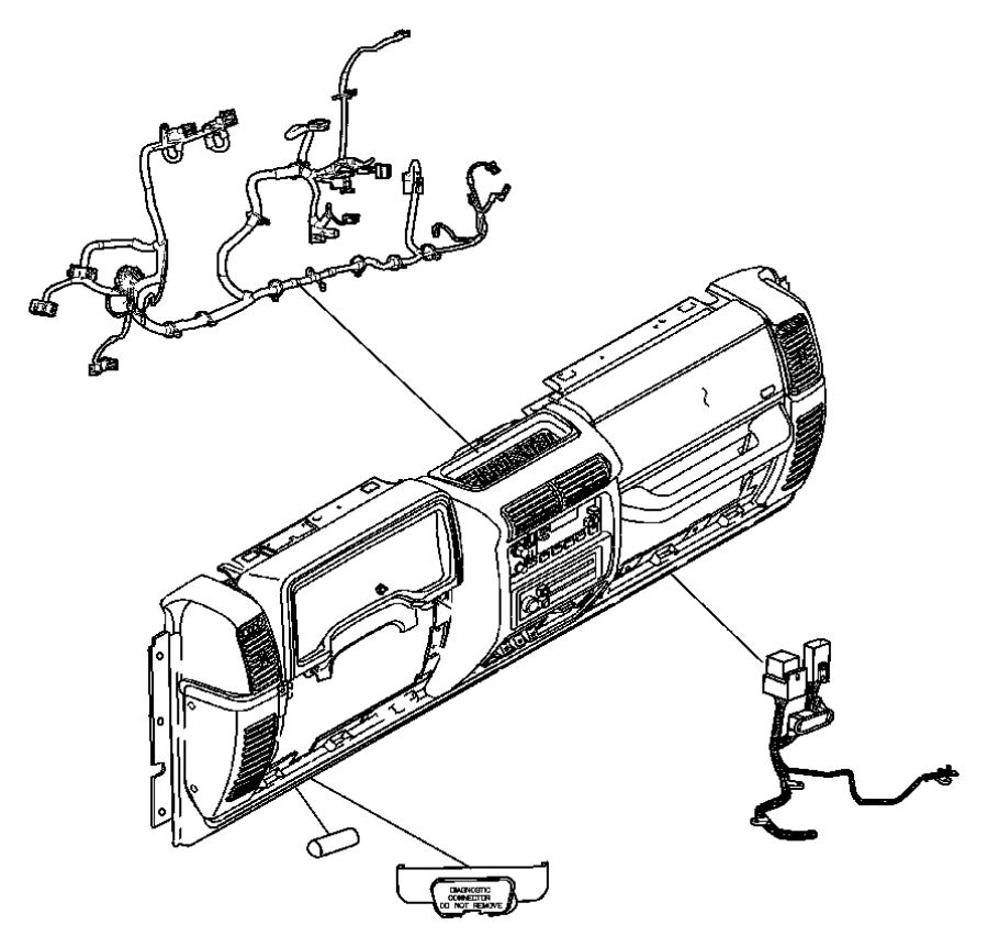 Jeep Wrangler Wiring. Instrument panel. [[hard top, auto