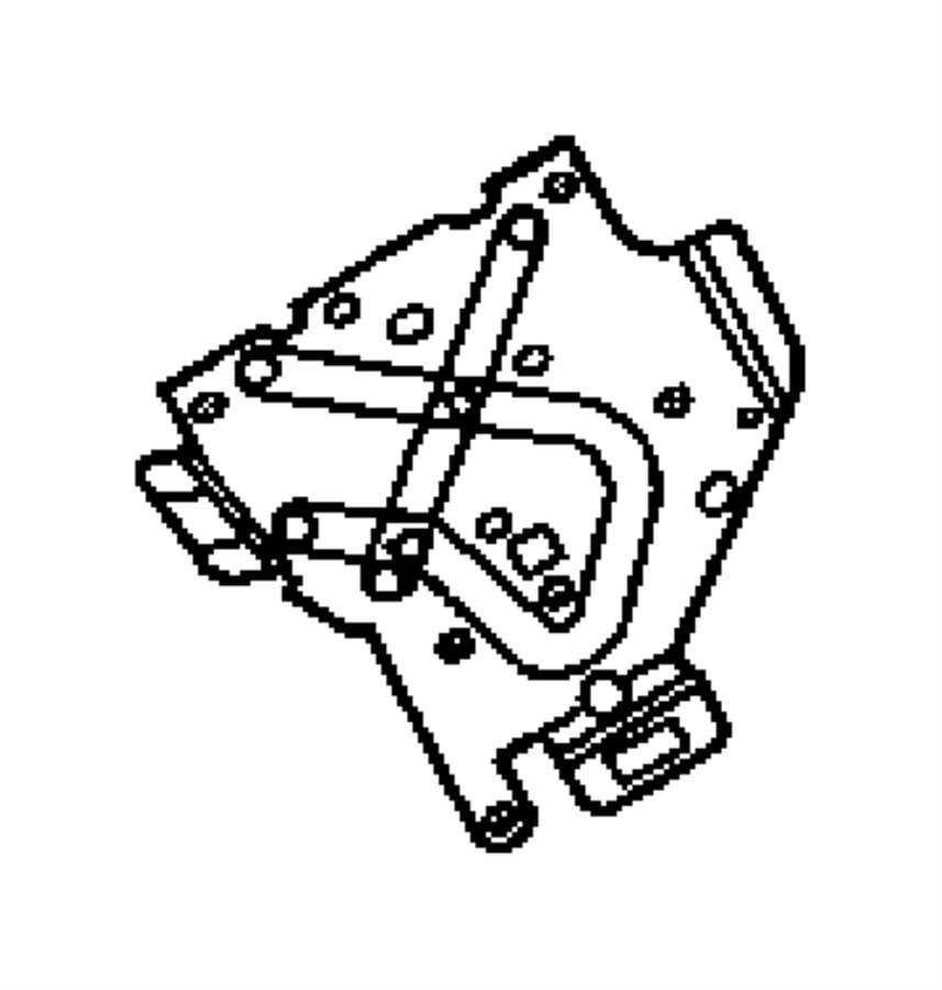 Jeep Wrangler Bracket. Abs sensor, air bag control module